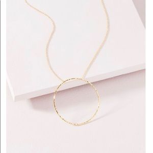 Stella and Dot Gold Hammered Circle Necklace